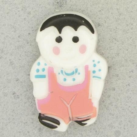 Ref001082 Botón Formas en colores rosa y  blanco y  negro celeste