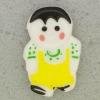 Ref001083 Botón Formas en colores amarillo y  blanco y  negro y  verde