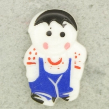 Ref001084 Botón Formas en colores azul marino y  blanco y  negro y  rojo