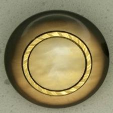 Ref001089 Botón Redondo en colores beige y  marron y  negro y  dorado