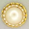 Ref001091 Botón Redondo en colores blanco y  dorado