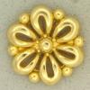 Ref001105 Botón Redondo, Flor en color dorado
