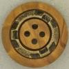 Ref001122 Botón Redondo en colores madera y  marron y  dorado