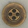 Ref001128 Botón Redondo en colores bronce y  dorado