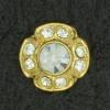 Ref001134 Botón Redondo en colores dorado y  blanco