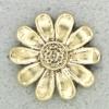 Ref001144 Botón Flor en color dorado