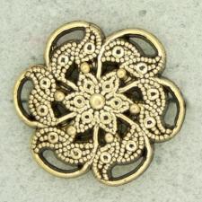 Ref001147 Botón Redondo, Flor en color dorado