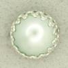 Ref001187 Botón Redondo en colores celeste y  turquesa y  plata