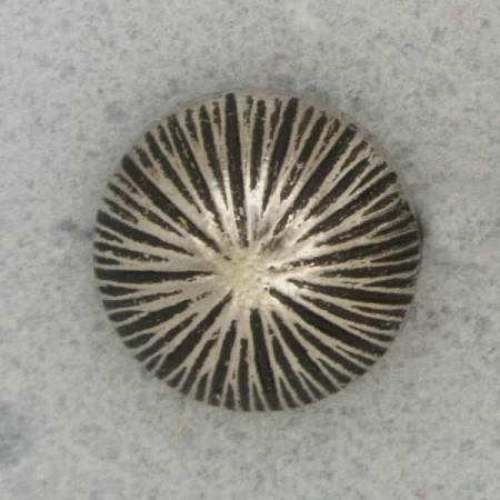 Ref001192 Botón Redondo en color plata