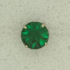 Ref001202 Botón Redondo en colores verde y  plata