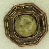 Ref001217 Botón Octógono en colores bronce y verde