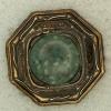 Ref001221 Botón Octógono en colores bronce y verde y azul