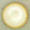 Ref001255 Botón Redondo en colores dorado y blanco