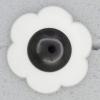 Ref000121 Botón Flor en colores negro y blanco