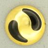 Ref001280 Botón Redondo en colores dorado y negro