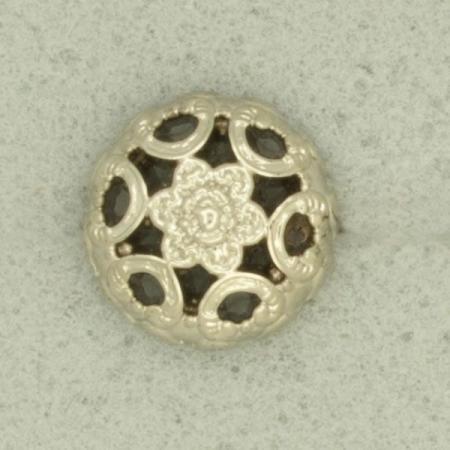 Ref001282 Botón Redondo en color plata