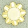 Ref001284 Botón Redondo, Flor en colores dorado y beig