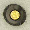 Ref001291 Botón Ovalado en colores negro y dorado