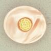 Ref001293 Botón Ovalado en colores rosa y dorado