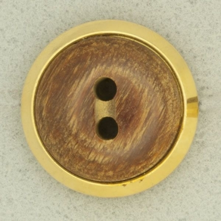 Ref001296 Botón Redondo en colores marron y dorado
