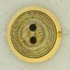 Ref001297 Botón Redondo en colores verde y dorado