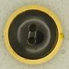 Ref001298 Botón Redondo en colores negro y dorado