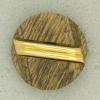 Ref001300 Botón Redondo en colores marron y dorado y madera