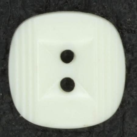 Ref001317 Botón Cuadrado en color blanco