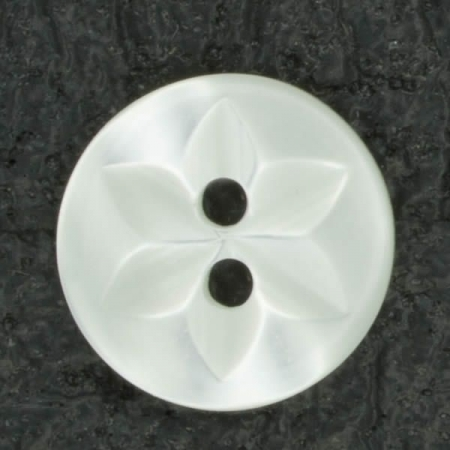 Ref001417 Botón Redondo en colores blanco y marfil