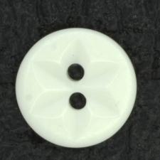 Ref001418 Botón Redondo en color blanco