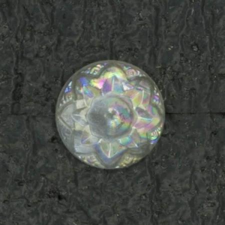 Ref001458 Botón Redondo en color transparente