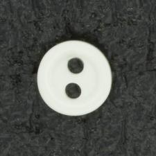 Ref001471 Botón Redondo en color blanco