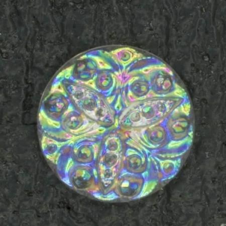 Ref001483 Botón Redondo en color transparente