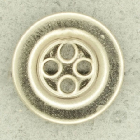 Ref001534 Botón Redondo en color plata