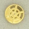 Ref001544 Botón Redondo en color dorado