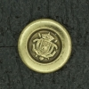 Ref001552 Botón Redondo en color dorado