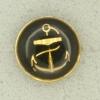 Ref001561 Botón Redondo en colores dorado y  negro