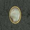 Ref001569 Botón Ovalado en colores gris y  dorado y  marron