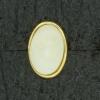 Ref001570 Botón Ovalado en colores beige y  marfil y  amarillo y  dorado