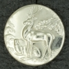 Ref001586 Botón Redondo en color plata