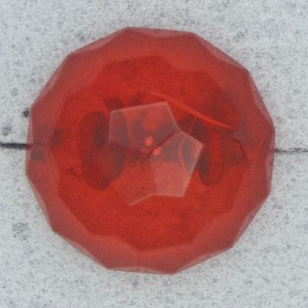 Ref000156 Botón Redondo en colores rojo y transparente