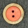 Ref001682 Botón Redondo en colores madera y  rojo