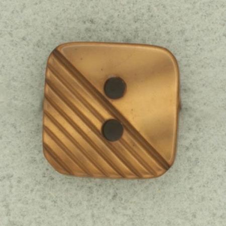 Ref001723 Botón Cuadrado en color marron