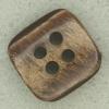 Ref001772 Botón Cuadrado en color marron