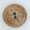 Ref001830 Botón Redondo en colores marron y  madera