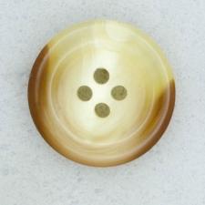 Ref001846 Botón Redondo en colores beige y  marron