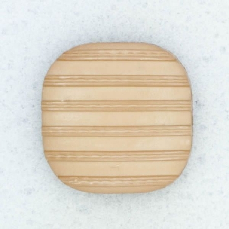 Ref001865 Botón Cuadrado en color marron