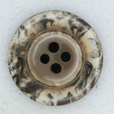 Ref001869 Botón Redondo en colores marron y  gris