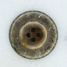 Ref001870 Botón Redondo en colores marron y  dorado