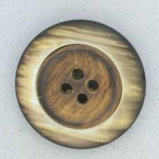 Ref001877 Botón Redondo en colores marron y  madera